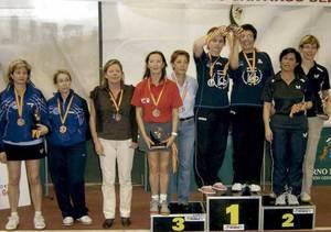La jugadora de tennis de taula Anne Stiewe al Campionat d´Espanya celebrat el 2009 a Tenerife.