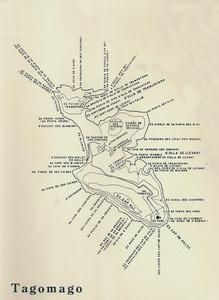 Mapa toponímic de Tagomago, elaborat per Cosme Aguiló.