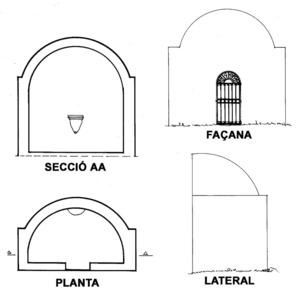 Plànols de la capella de sa Talaia de Sant Antoni. Extret de <em>Quatre capelles eivissenques de devoció popular.</em>
