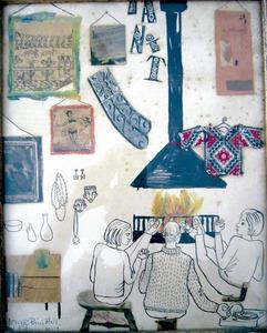 Dibuix de la Galeria Tanit realitzat el 1961 per Núria Pompeia.