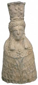 Figureta de Tanit trobada a la cova des Culleram. Foto: Museu Arqueològic d´Eivissa i Formentera.