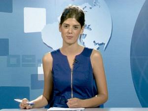 La presentadora de l´informatiu de la Televisió d´Eivissa i Formentera Núria Arias. Foto: cortesia de la TEF.