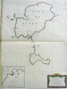 Carta esfèrica de les illes d´Eivissa i Formentera, obra del marí i cosmògraf Vicente Tofiño de San Miguel.