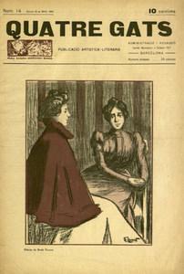 Portada de la revista <em>Quatre Gats</em>, original d´Eveli Torent i Marsans.