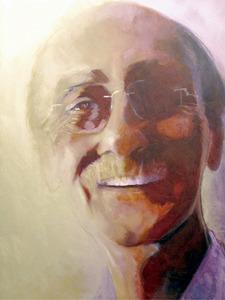 El promotor cultural Antoni Torres Font en un retrat d´August Banegas.