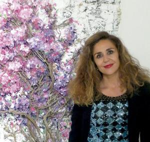 La pintora Marta Torres Marí, que també dirigeix la Galeria Marta Torres de la ciutat d´Eivissa des de 1994.