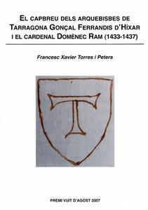 Portada d´una obra d´investigació històrica de l´eclesiàstic i historiador Francesc Xavier Torres Peters.