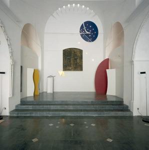 Interior de l´església de l´Hospitalet, que rehabilità Elies Torres tur per dedicar-la a usos culturals.