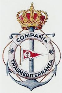 Escut de la companyia Trasmediterránea. Cortesia de Josep Torres.