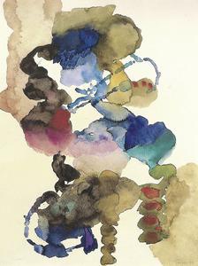 Una obra de Heinz Trökes: guaix sobre paper, 66,5 x 51 cm. Foto: Extret de <em>Grup Ibiza 59. Passat i present</em>.