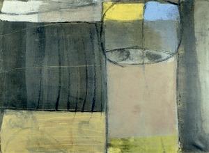 <em>Sense títol</em> (1959), oli damunt tela, 73 x 54 cm, obra de Rafel Tur Costa. Foto: Sonya Torres Planells.