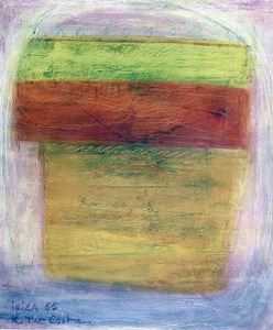 Oli damunt tela (1965), 55 x 56 cm, obra de Rafel Tur Costa.
