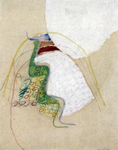 Obra mixta sobre paper (1968), 40 x 32 cm, de Rafel Tur Costa. Foto: Sonya Torres Planells.