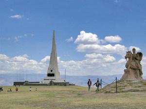 Monument aixecat en commemoració de la batalla d´Ayacucho, en la qual va prendre part el brigadier d´infanteria Antoni Tur i Barrueta.