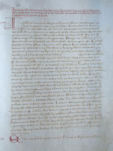 Universitat d´Eivissa. P&agrave;gina del <em>Llibre de la Cadena</em> amb la revisi&oacute; de les franqueses feta per l´arquebisbe Roderic a Tarragona el juny de 1300. Cortesia de l´Arxiu Hist&ograve;ric Municipal d´Eivissa.