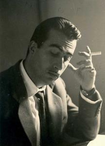 Una imatge de final dels anys cinquanta de l´autor, actor i director teatral Vicente Valero Riera. Foto: arxiu de la família Valero Marí.