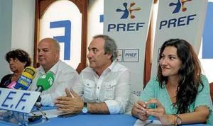 L´empresari i polític Cándido Valladolid Buendía (segon per la dreta). Foto: cortesia del PREF.