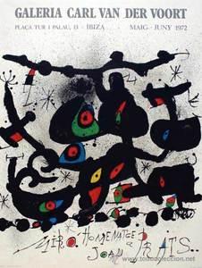 El 1972, la Galeria Van der Voort va presentar treballs de Joan Miró.