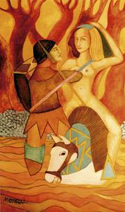 Portada del díptic de l´exposició de Monreal a Via 2 Galeria d´Art (2009).