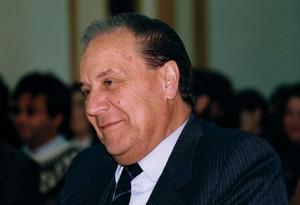 """El polític, empresari i periodista Cosme Vidal Juan, primer president del Consell Insular d´Eivissa i Formentera. Foto: Vicent Ribas """"Trull""""."""