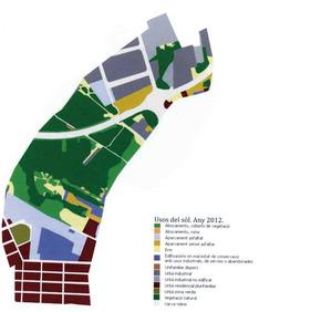 Cartografia dels usos del sòl de les feixes del prat de Vila l´any 2012. Elaboració: Vicent Prats Ramon / revista <em>Eivissa</em>.