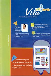 Portada del núm. 1 de la revista Vila, publicada per l´Ajuntament d´Eivissa entre 200 i 2003.