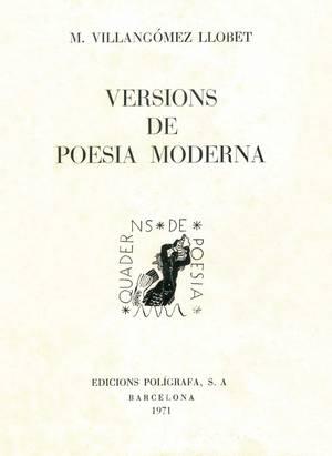 Marià Villangómez Llobet. Portada de Versions de poesia moderna, publicat el 1971.