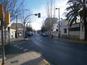 El carrer de Pere Matutes Noguera, que fa d´eix vertebrador del barri des Viver. Foto: Felip Cirer Costa.