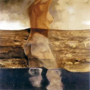 Oli sobre tela 1,50 x 1,50 m., 1969, obra de David Walsh. Foto: arxiu de Catalina Verdera Ribas.