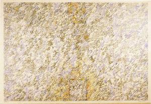 <em>Sense títol</em>, 1978, llapis i llapis de color damunt cartó, 64 x 94 cm., obra de Jean Willi. Foto: Toni Pomar / <em>Eivissa. L´art dels 70.</em>