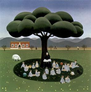 Obra de la pintora alemanya Uta Wohlfarth. Foto: arxiu de Catalina Verdera Ribas.