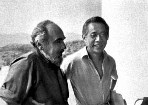 Ki Zao-Wou amb Conrad Marca-Relli, a Eivissa, el 1975. Foto: Sin-May.