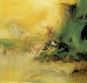 Una obra de Ki Zao-Wou (oli sobre tela, 150 x 162 cm).