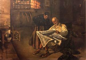 Oli del pintor alacantí Josep Zornoza Lloret.