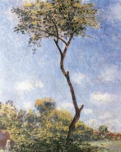 Fragment del quadre <em>Trembles et acacias</em>, d´Alfred Sisley (1839-1899)