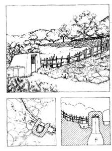 Dibuixos d´un aljub fets per Valérie Gevers. Extret d´<em>Eivissa. El Palau Pagès</em>, de F. Joachim i Ph. Rotthier.