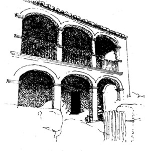Arcada de can Reial. Extret d´<em>Eivissa. El palau pagès</em>.