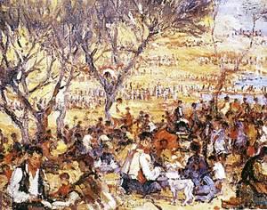 Art. Berenada popular as Molins. Narcís Puget Viñas. Oli sobre tela de 37 x 45 cm. Col·lecció particular.