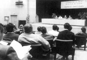 Associacionisme. Assemblea constituent de la Federació d´Associacions de Vesins d´Eivissa. Foto: arxiu del <em>Diario de Ibiza</em>.