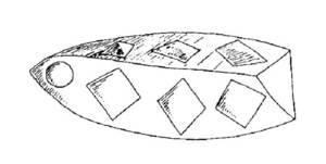Barqueta de fusta per pescar sèpies.