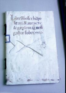 Coberta del <em>Llibre de Bosser</em>.