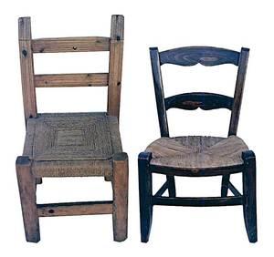 A l´esquerra, cadira tradicional. A la dreta, una de més actual. Foto: Antoni Manonelles Bolle.