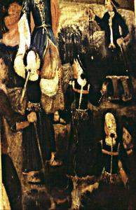 L´ús antic del cambuix queda demostrat a les pintures divuitesques de la trona de l´església de Sant Josep (detall). Foto: Lena Mateu Prats.