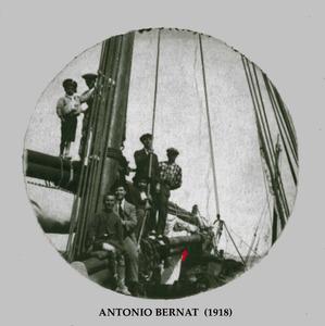 La catxamarina del vaixell <em>Antonio Bernat</em>, imatge de l´any 1918.