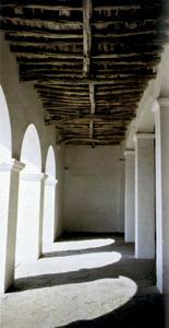Coberta dels porxos de missa de l´església de Sant Mateu d´Albarca.