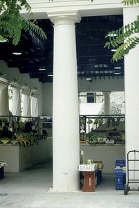 Un exemple de columna a les Pitiüses són les del Mercat Vell de Vila. Foto: Antoni Ferrer Abárzuza.