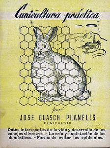 Llibre sobre la cria del conill publicat per Josep Guasch Planells.