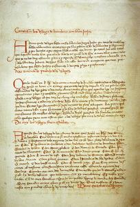 Còpia dels Usatges de Barcelona contenguda en el <em>Llibre de la Cadena</em>. Aquesta compilació de dret entrà en vigor a Eivissa arran de la conquista catalana. Arxiu Històric Municipal d´Eivissa.