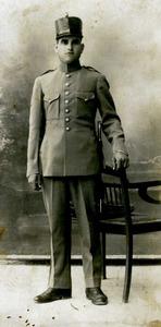 Un membre del cos de carrabiners, encarregat de la persecució del contraban. Foto: cortesia de la família Díaz Zaragoza.