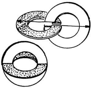 Detall de com es formen els cordoncillos, a base d´anelles d´or. Elaboració: Lena Mateu Prats.